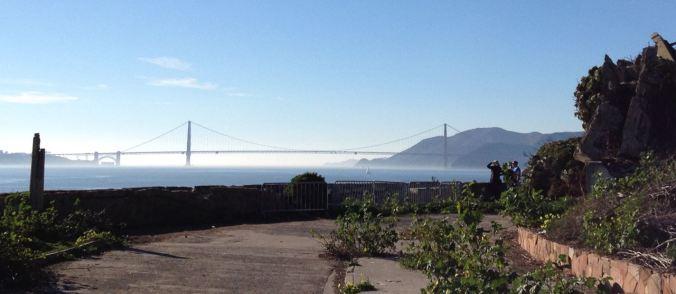 View of the Golden Gate Bridge from Alcatraz