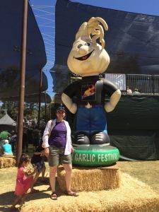 At the Gilroy Garlic Festival with Mr. Garlic