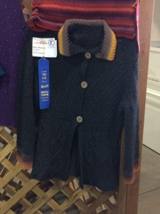 I won a blue ribbon for a sweater I made for myself!
