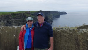 We went to the Cliffs of Moher and walked around.